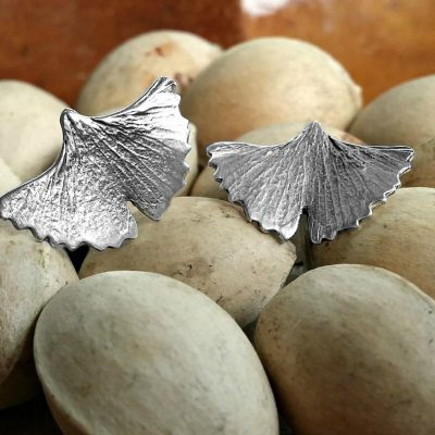 Pendientes Ginkgo S plata