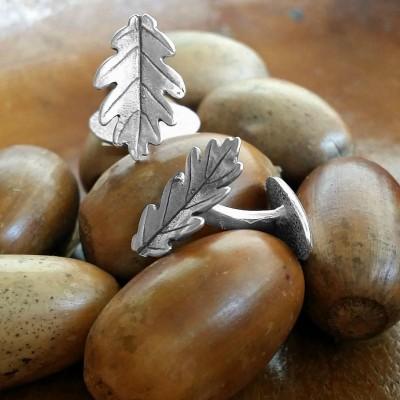 gemelos roble plata