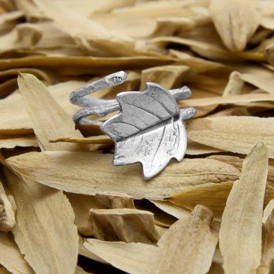 anillo tulipifero plata