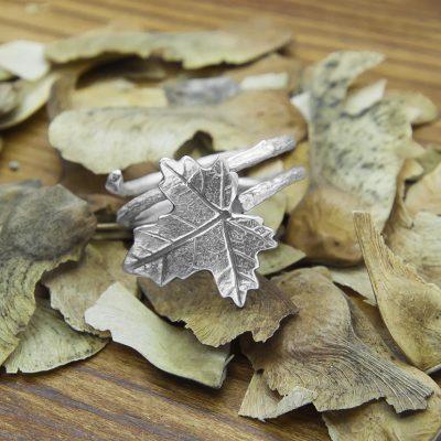 anillo arce plata